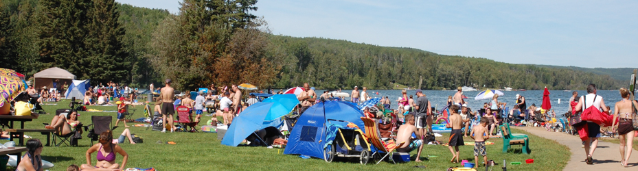 Long Lake PP - Beach Crowd